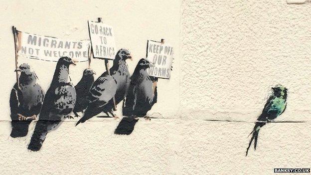 Baksy anti-immigration mural